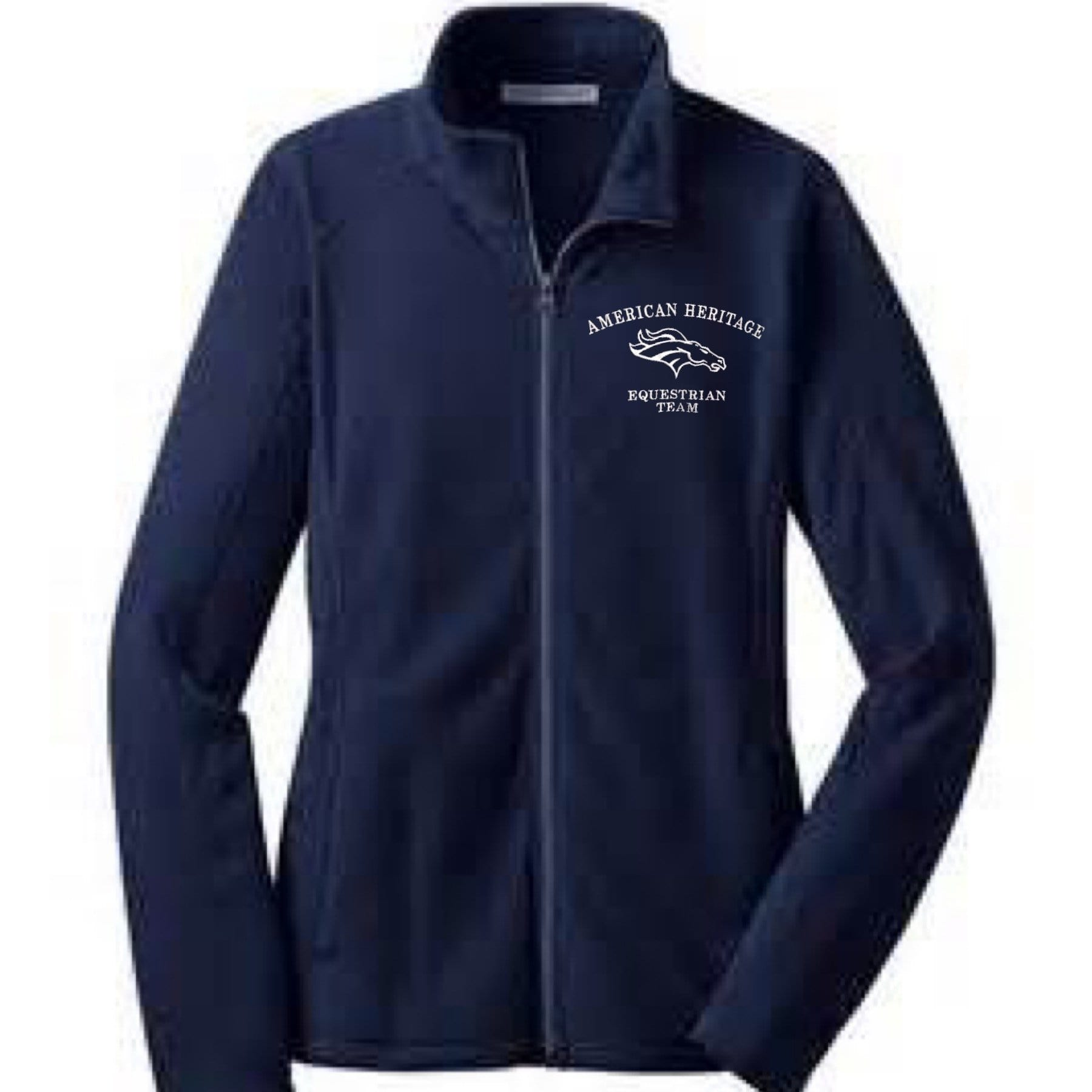 Equestrian Team Apparel Custom Team Shirts XS / Navy / Name American Heritage IEA Fleece Jacket equestrian team apparel online tack store mobile tack store custom farm apparel custom show stable clothing equestrian lifestyle horse show clothing riding clothes horses equestrian tack store
