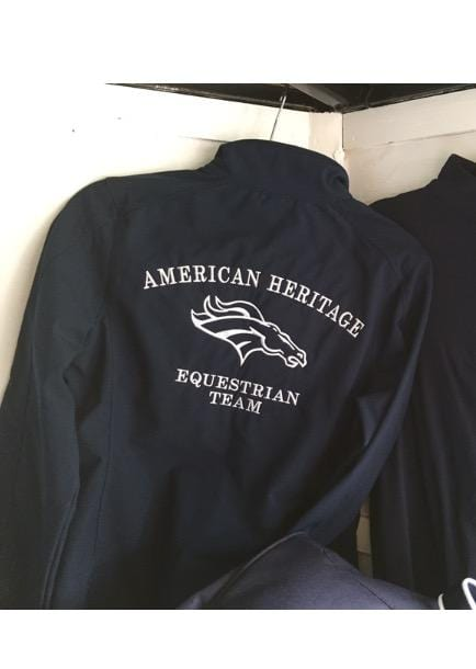 Equestrian Team Apparel Custom Team Jackets XS / Navy American Heritage IEA Shell Jacket equestrian team apparel online tack store mobile tack store custom farm apparel custom show stable clothing equestrian lifestyle horse show clothing riding clothes horses equestrian tack store