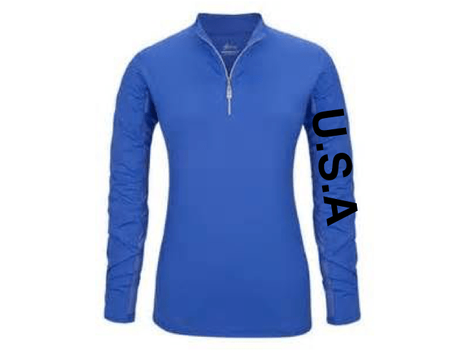 Equestrian Team Apparel Custom Shirts xs / mock USA blue equestrian team apparel online tack store mobile tack store custom farm apparel custom show stable clothing equestrian lifestyle horse show clothing riding clothes horses equestrian tack store