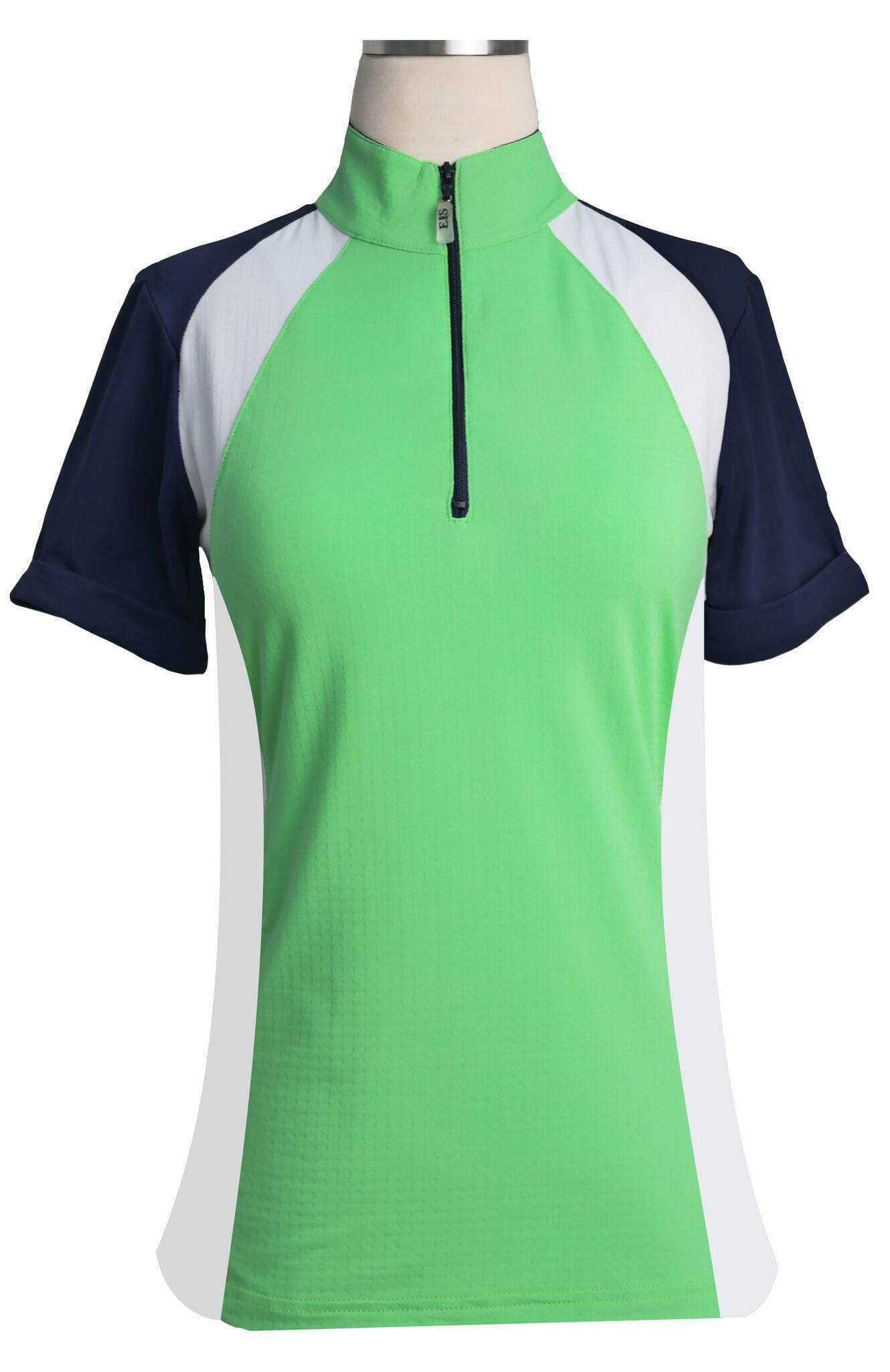 EIS Shirt EIS Lime Green Paneled Short Sleeve Sunshirts equestrian team apparel online tack store mobile tack store custom farm apparel custom show stable clothing equestrian lifestyle horse show clothing riding clothes horses equestrian tack store