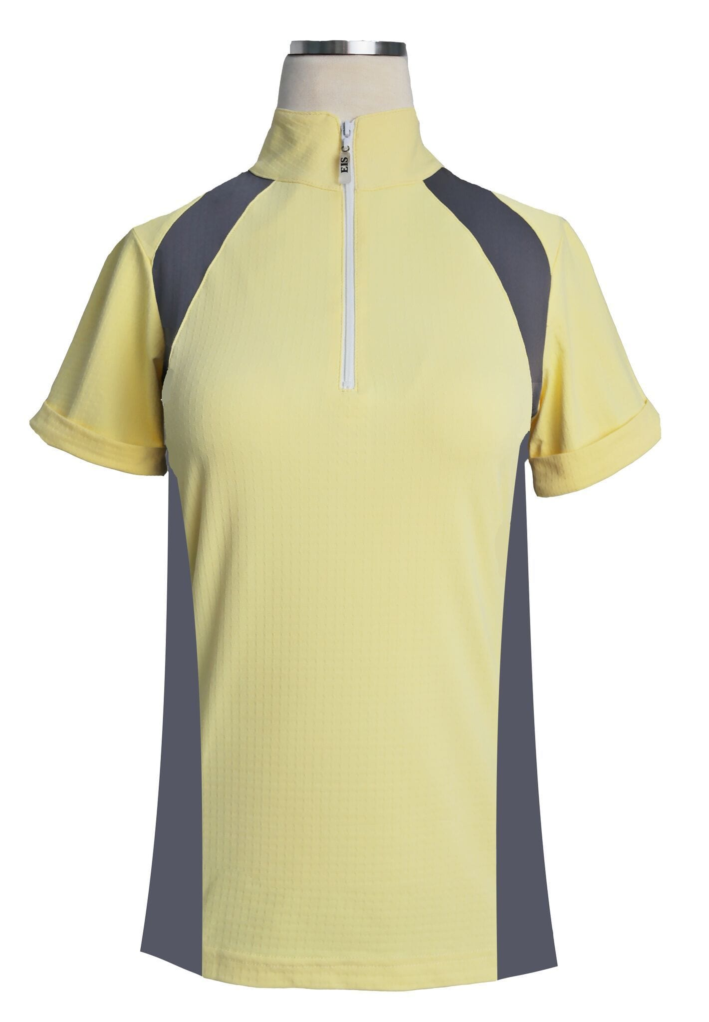 EIS Shirt EIS Yellow Paneled Short Sleeve Sunshirts equestrian team apparel online tack store mobile tack store custom farm apparel custom show stable clothing equestrian lifestyle horse show clothing riding clothes horses equestrian tack store