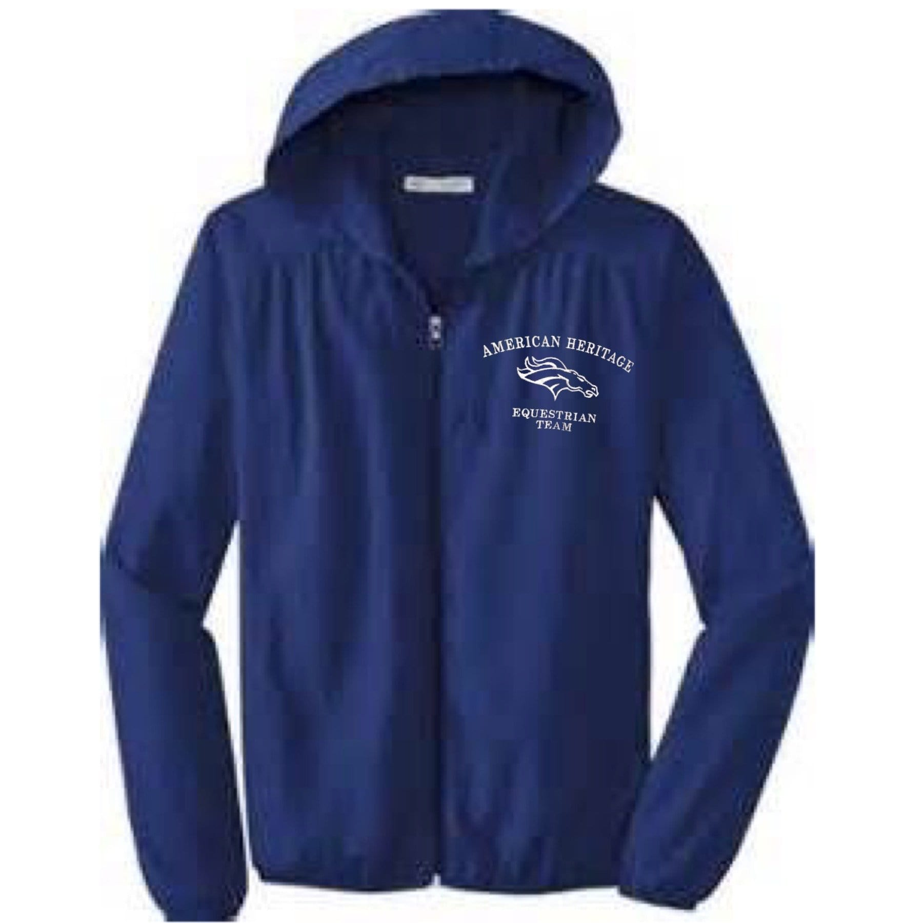 Equestrian Team Apparel Custom Team Shirts XS / Navy / Name American Heritage IEA Rain Jacket w/hood equestrian team apparel online tack store mobile tack store custom farm apparel custom show stable clothing equestrian lifestyle horse show clothing riding clothes horses equestrian tack store