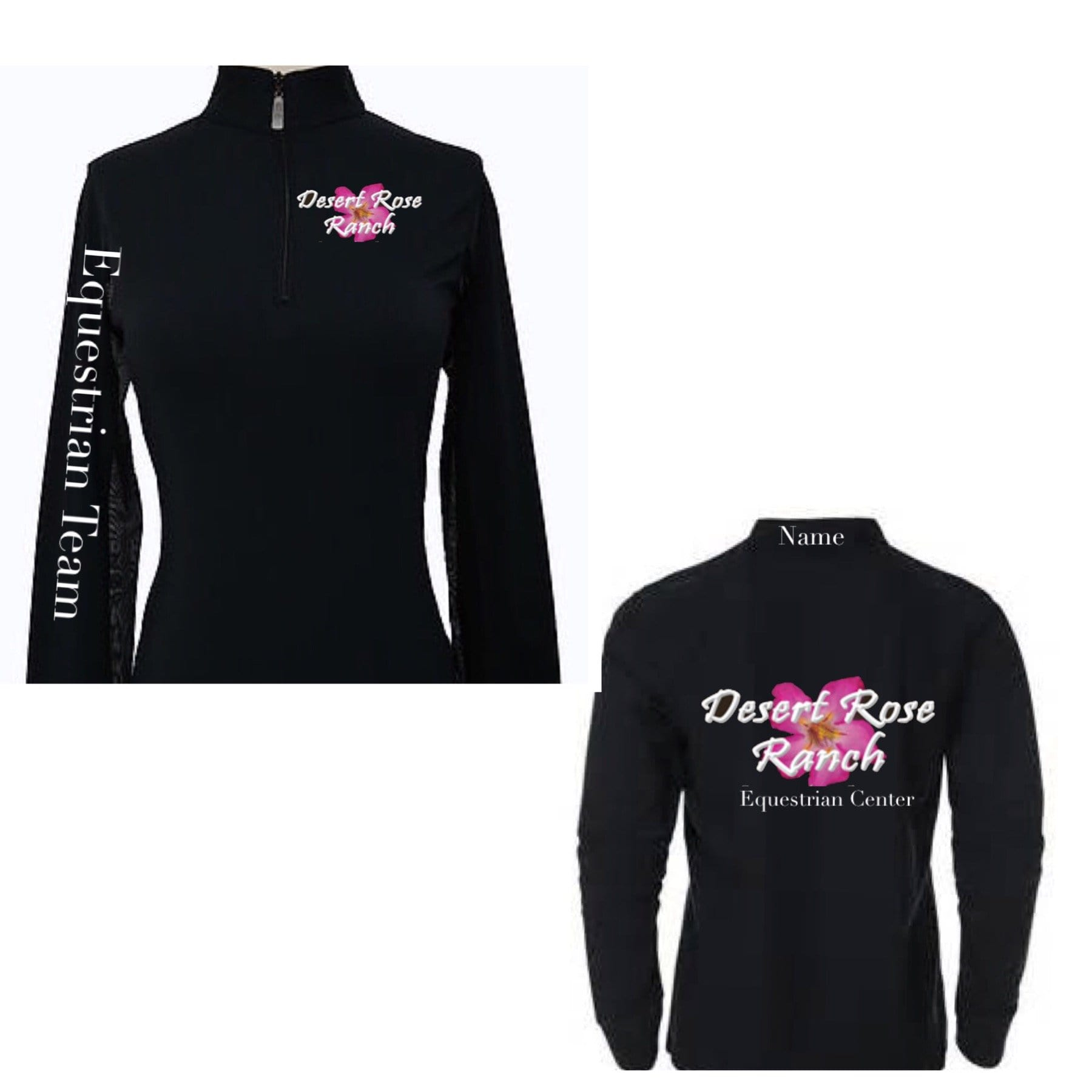 Equestrian Team Apparel Custom Team Shirts XXXS / Black / Trainer Desert Rose Ranch equestrian team apparel online tack store mobile tack store custom farm apparel custom show stable clothing equestrian lifestyle horse show clothing riding clothes horses equestrian tack store