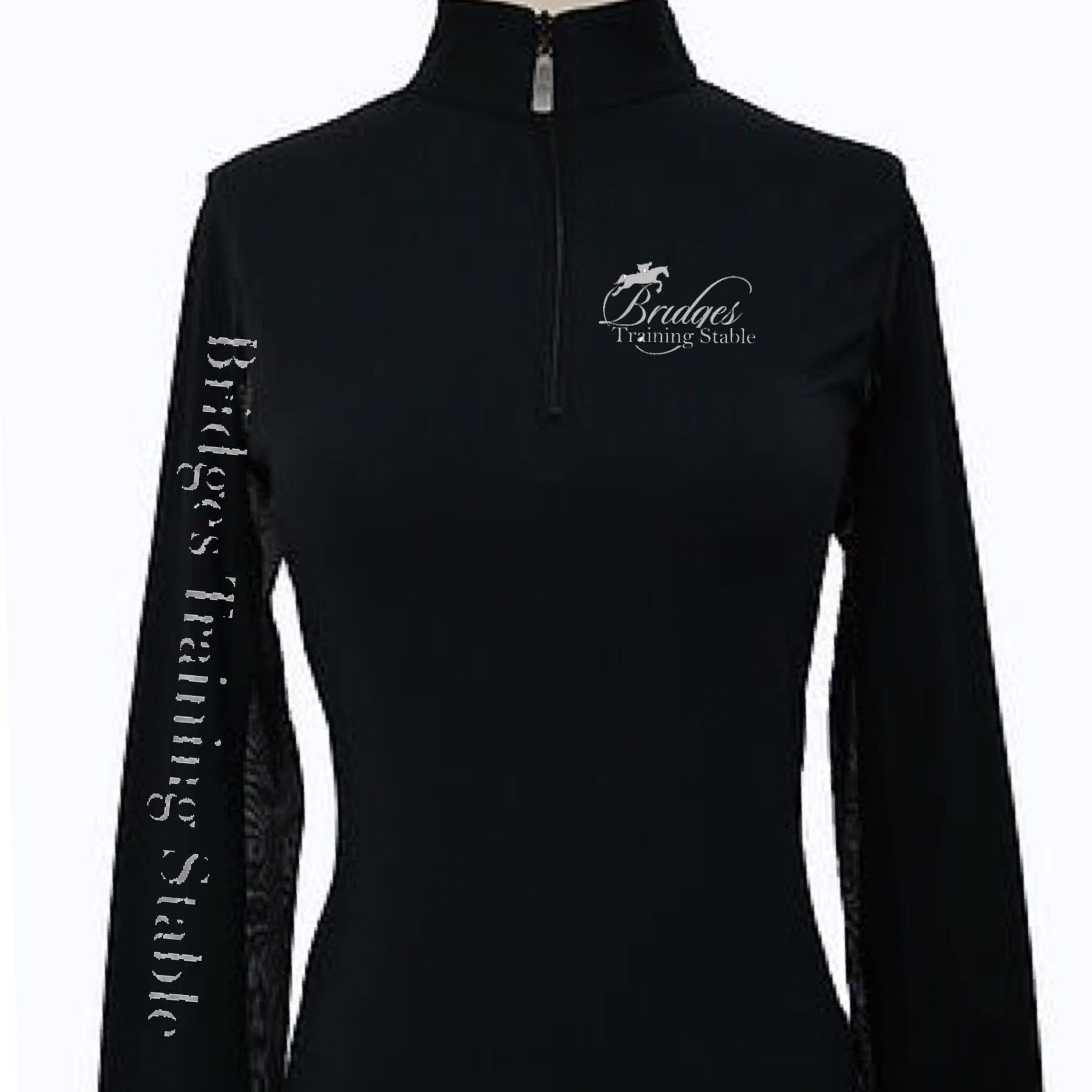 Equestrian Team Apparel Custom Team Shirts Youth / black Bridges Training Stable equestrian team apparel online tack store mobile tack store custom farm apparel custom show stable clothing equestrian lifestyle horse show clothing riding clothes horses equestrian tack store