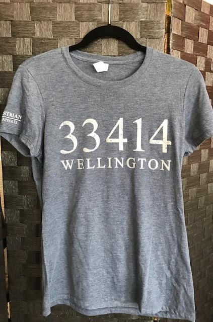 Equestrian Team Apparel Graphic Tees XS / Silver Wellington Zip Code Graphic Tee - ETA equestrian team apparel online tack store mobile tack store custom farm apparel custom show stable clothing equestrian lifestyle horse show clothing riding clothes horses equestrian tack store