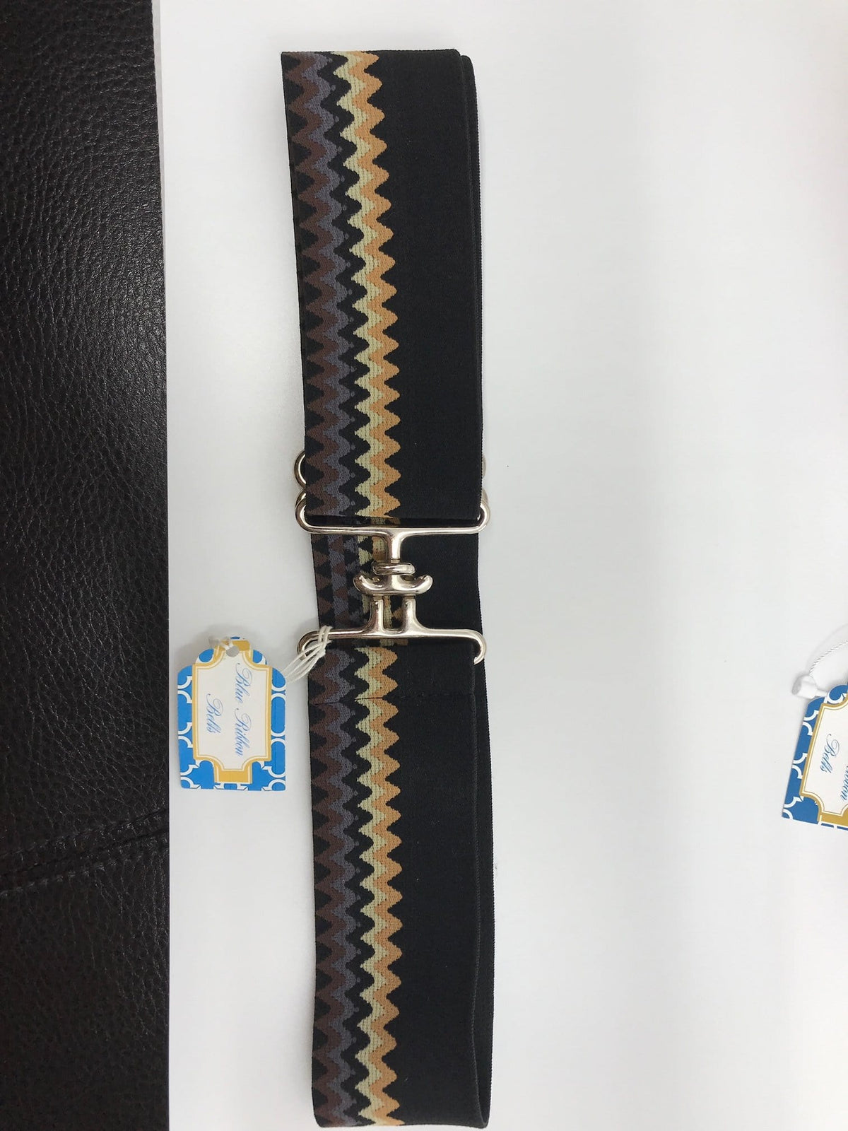 Blue Ribbon Belts Belt Black ZigZag Blue Ribbon Belts - 2 Inch equestrian team apparel online tack store mobile tack store custom farm apparel custom show stable clothing equestrian lifestyle horse show clothing riding clothes horses equestrian tack store