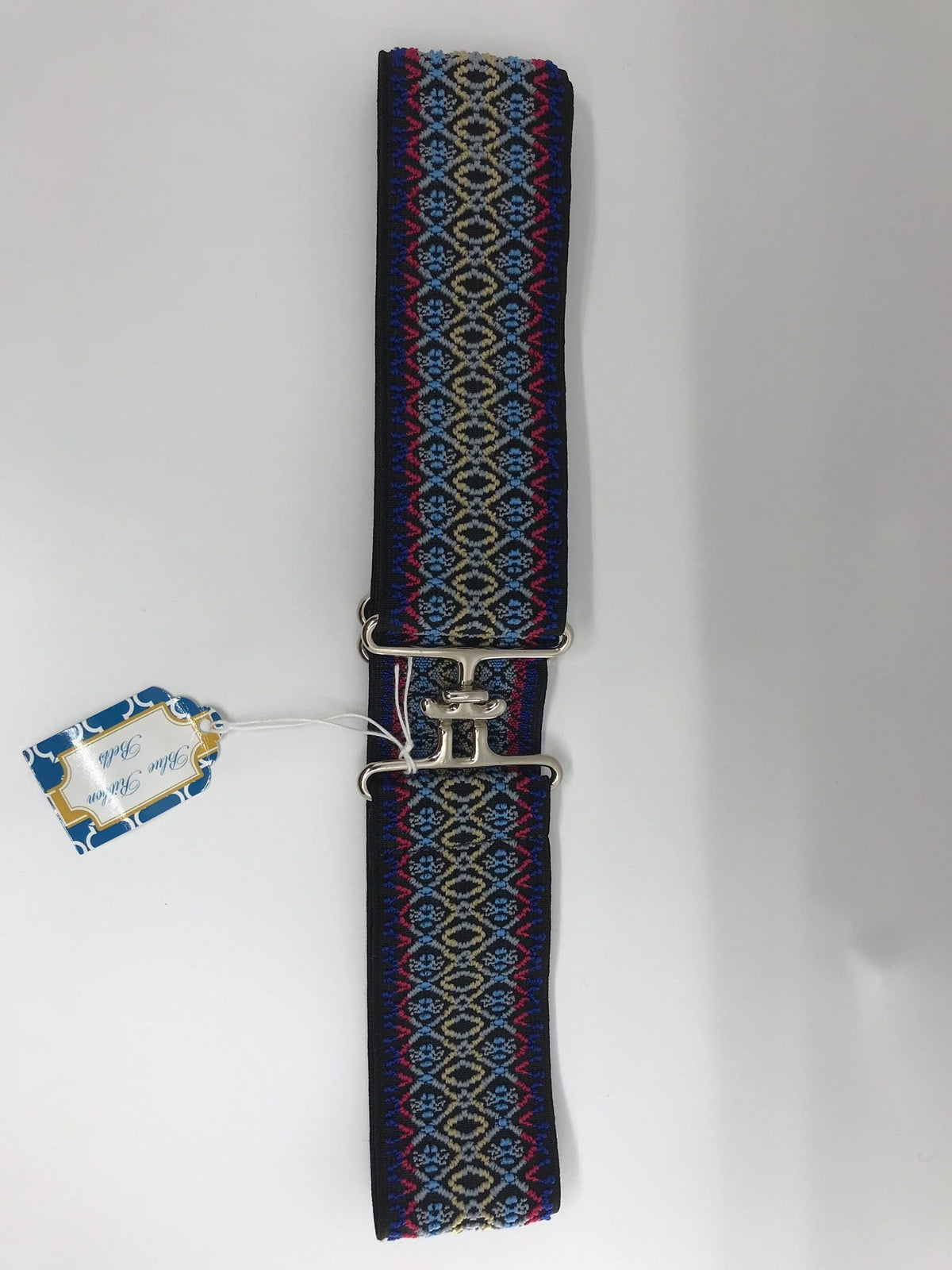 Blue Ribbon Belts Belt Navy/Rose/Light Blue Blue Ribbon Belts - 2 Inch equestrian team apparel online tack store mobile tack store custom farm apparel custom show stable clothing equestrian lifestyle horse show clothing riding clothes horses equestrian tack store