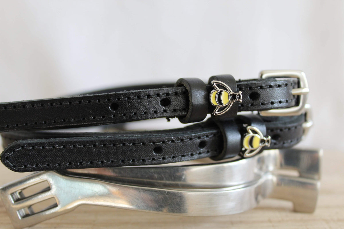 ManeJane Black Spur Straps Bee Spur Straps equestrian team apparel online tack store mobile tack store custom farm apparel custom show stable clothing equestrian lifestyle horse show clothing riding clothes horses equestrian tack store