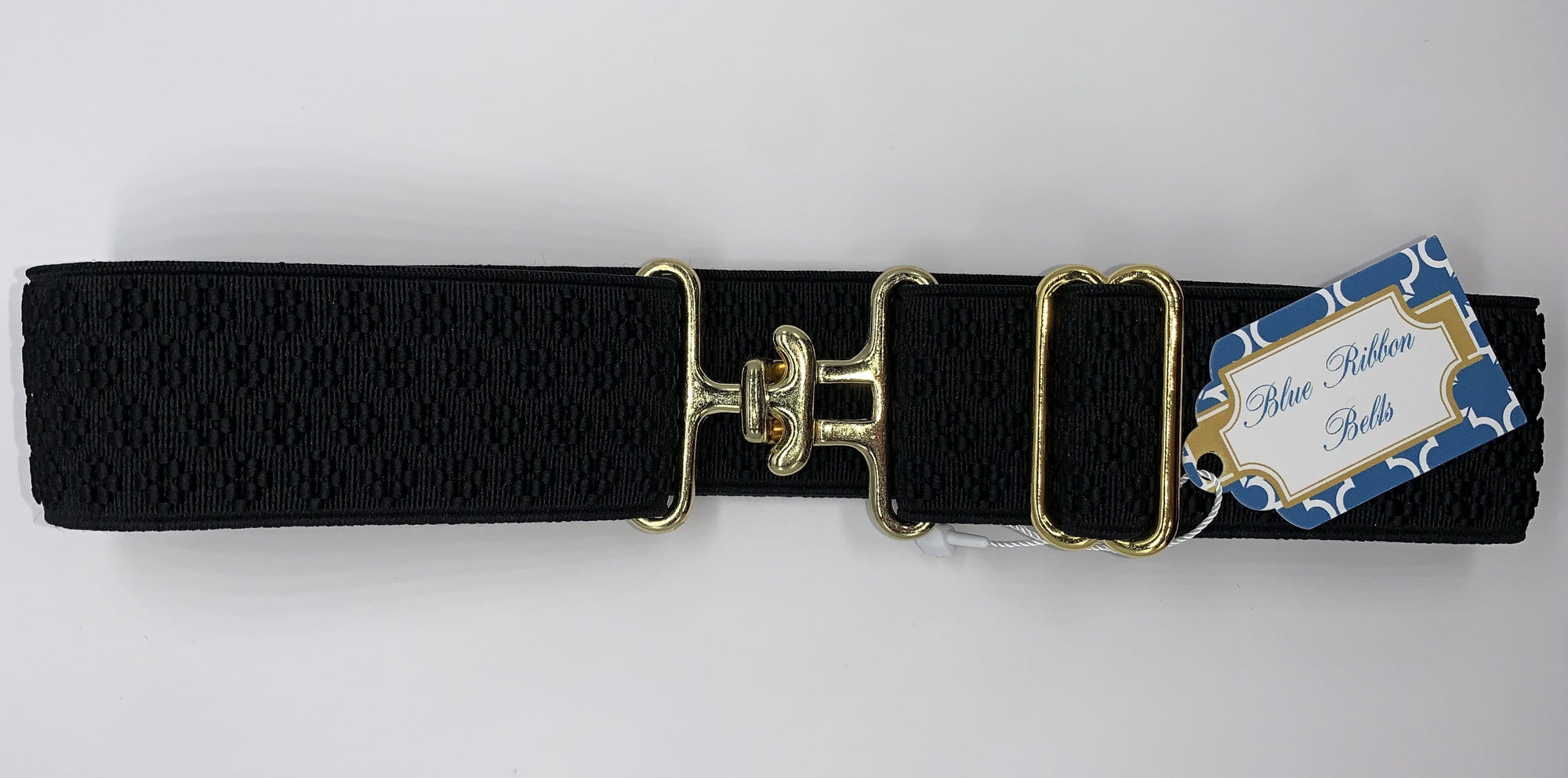 Blue Ribbon Belts Belt Black Flower Belt 1.5 Inch equestrian team apparel online tack store mobile tack store custom farm apparel custom show stable clothing equestrian lifestyle horse show clothing riding clothes horses equestrian tack store