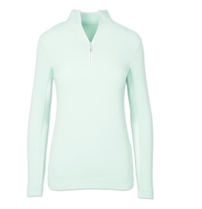 Tailored Sportsman Women's Shirt XXS Celadon/Silver Long Sleeve Sun Shirt equestrian team apparel online tack store mobile tack store custom farm apparel custom show stable clothing equestrian lifestyle horse show clothing riding clothes horses equestrian tack store