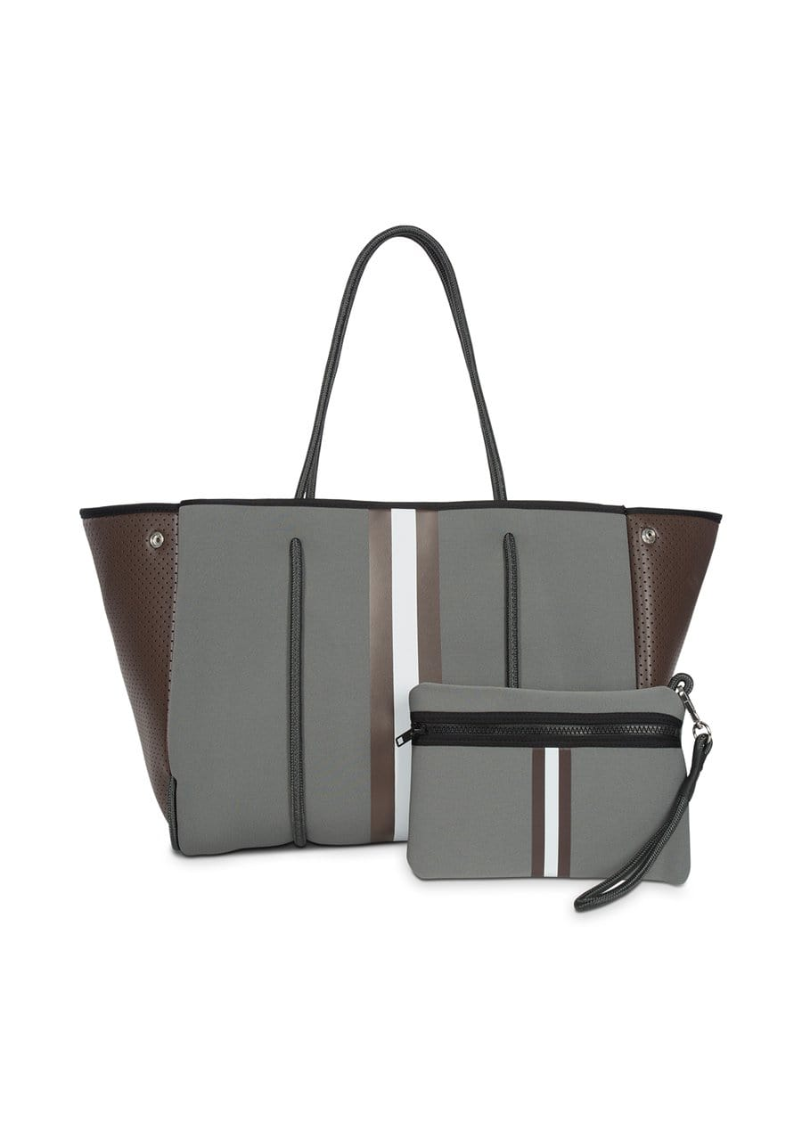 Haute Shore Bags Greyson Cocoa Tote equestrian team apparel online tack store mobile tack store custom farm apparel custom show stable clothing equestrian lifestyle horse show clothing riding clothes horses equestrian tack store
