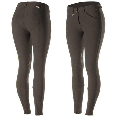 Horze Breeches US 22 (EU 34) / Dark Brown Horze Women's Grand Prix Knee Patch Breeches - Silicone Patches equestrian team apparel online tack store mobile tack store custom farm apparel custom show stable clothing equestrian lifestyle horse show clothing riding clothes horses equestrian tack store