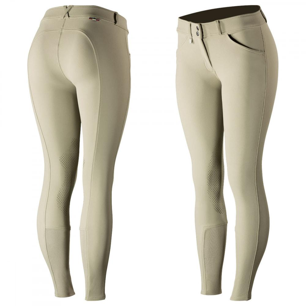 Horze Breeches US 22 (EU 34) / Tan Horze Women's Grand Prix Knee Patch Breeches - Silicone Patches equestrian team apparel online tack store mobile tack store custom farm apparel custom show stable clothing equestrian lifestyle horse show clothing riding clothes horses equestrian tack store