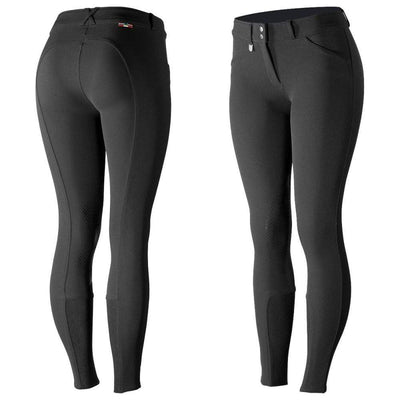 Horze Breeches US 22 (EU 34) / Black Horze Women's Grand Prix Knee Patch Breeches - Silicone Patches equestrian team apparel online tack store mobile tack store custom farm apparel custom show stable clothing equestrian lifestyle horse show clothing riding clothes horses equestrian tack store