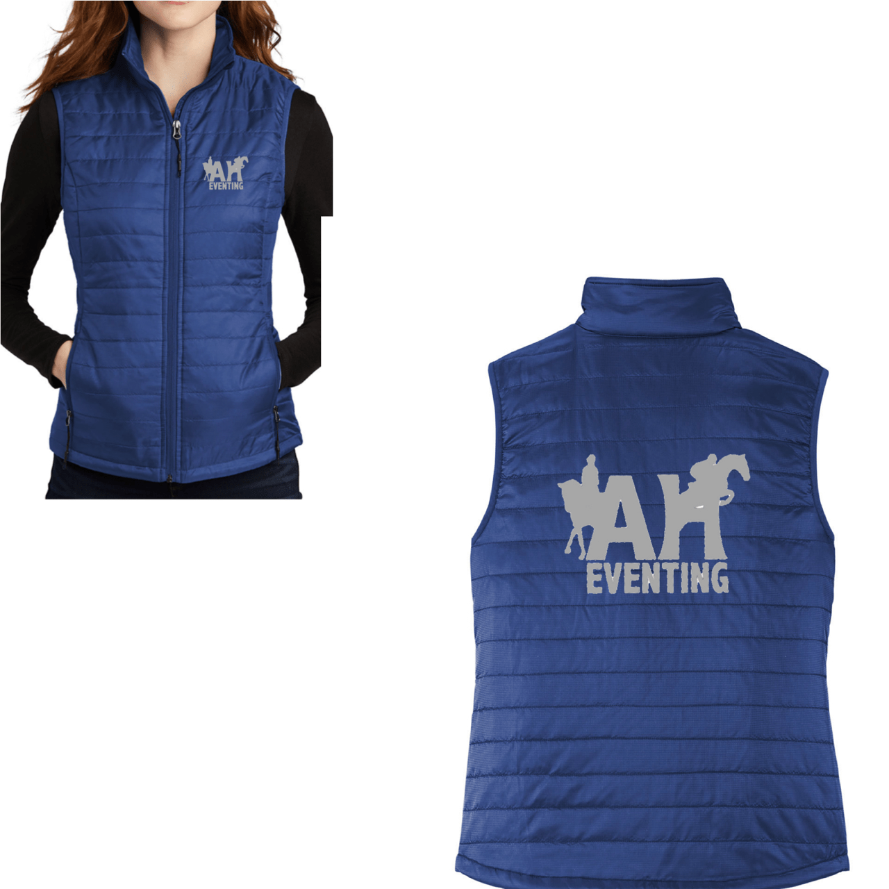 Equestrian Team Apparel Custom Jacket AH Eventing Puffy Vest equestrian team apparel online tack store mobile tack store custom farm apparel custom show stable clothing equestrian lifestyle horse show clothing riding clothes horses equestrian tack store