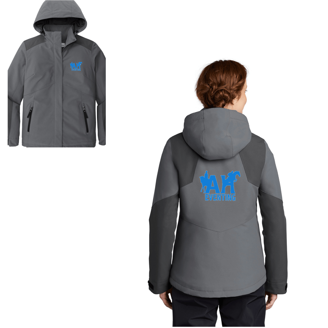 Equestrian Team Apparel Custom Jacket AH Eventing Hooded Jacket equestrian team apparel online tack store mobile tack store custom farm apparel custom show stable clothing equestrian lifestyle horse show clothing riding clothes horses equestrian tack store