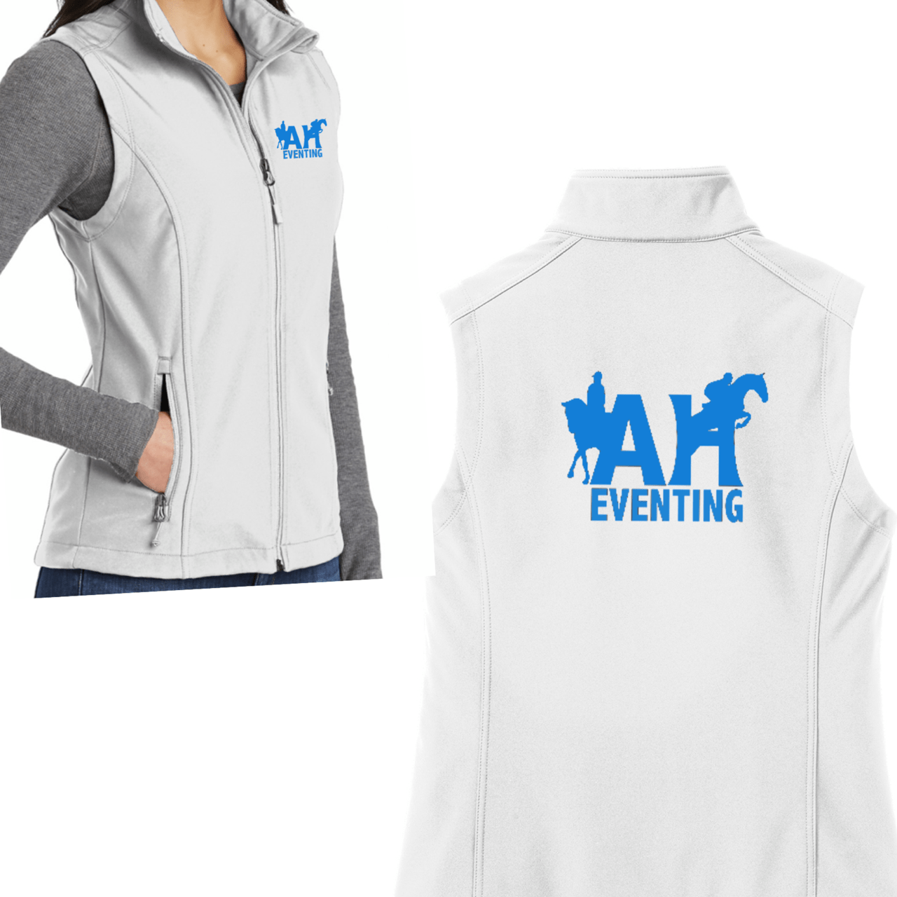 Equestrian Team Apparel Custom Jacket AH Eventing Women's Vest equestrian team apparel online tack store mobile tack store custom farm apparel custom show stable clothing equestrian lifestyle horse show clothing riding clothes horses equestrian tack store