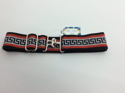 "Blue Ribbon Belts Belt Red/Black/White Greek Pattern Blue Ribbon Belts 1.5"" equestrian team apparel online tack store mobile tack store custom farm apparel custom show stable clothing equestrian lifestyle horse show clothing riding clothes horses equestrian tack store"