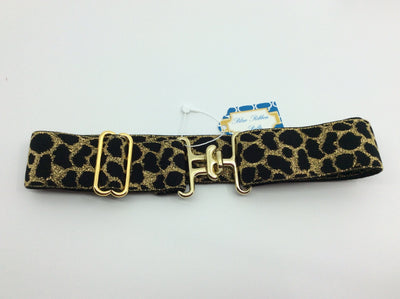 "Blue Ribbon Belts Belt Gold/Black Cat Print Blue Ribbon Belts 1.5"" equestrian team apparel online tack store mobile tack store custom farm apparel custom show stable clothing equestrian lifestyle horse show clothing riding clothes horses equestrian tack store"