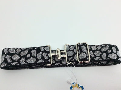"Blue Ribbon Belts Belt Silver/Black Cat Print Blue Ribbon Belts 1.5"" equestrian team apparel online tack store mobile tack store custom farm apparel custom show stable clothing equestrian lifestyle horse show clothing riding clothes horses equestrian tack store"