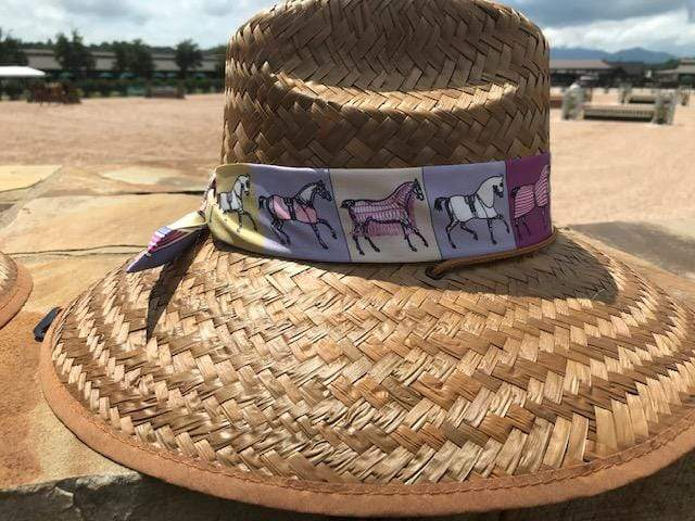 Island Girl Sun Hat Purple Ribbon Derby Day -Island Girls Hats equestrian team apparel online tack store mobile tack store custom farm apparel custom show stable clothing equestrian lifestyle horse show clothing riding clothes horses equestrian tack store