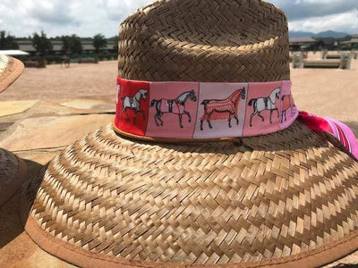 Island Girl Sun Hat Pink Ribbon Derby Day -Island Girls Hats equestrian team apparel online tack store mobile tack store custom farm apparel custom show stable clothing equestrian lifestyle horse show clothing riding clothes horses equestrian tack store