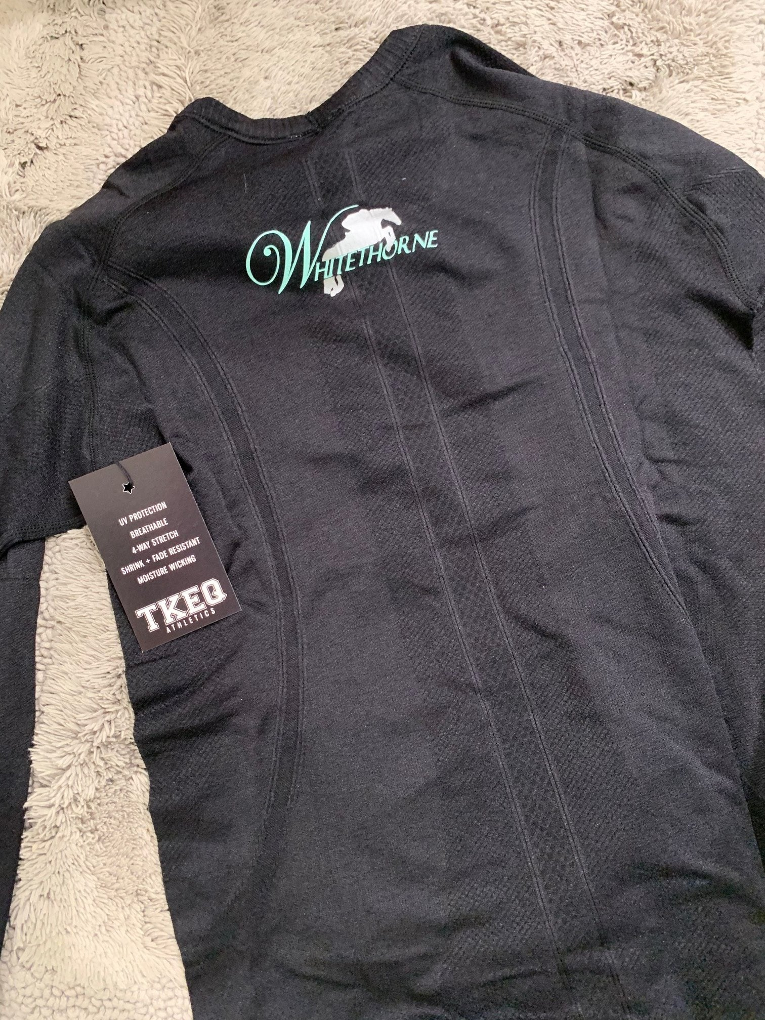 Equestrian Team Apparel Custom Shirts Whitehorne TKEQ Longsleeve equestrian team apparel online tack store mobile tack store custom farm apparel custom show stable clothing equestrian lifestyle horse show clothing riding clothes horses equestrian tack store