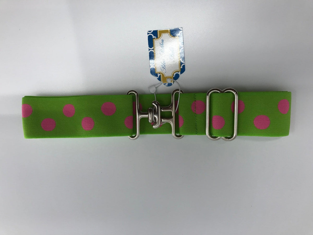 "Blue Ribbon Belts Belt Lime/ Pink Dots Blue Ribbon Belts 1.5"" equestrian team apparel online tack store mobile tack store custom farm apparel custom show stable clothing equestrian lifestyle horse show clothing riding clothes horses equestrian tack store"