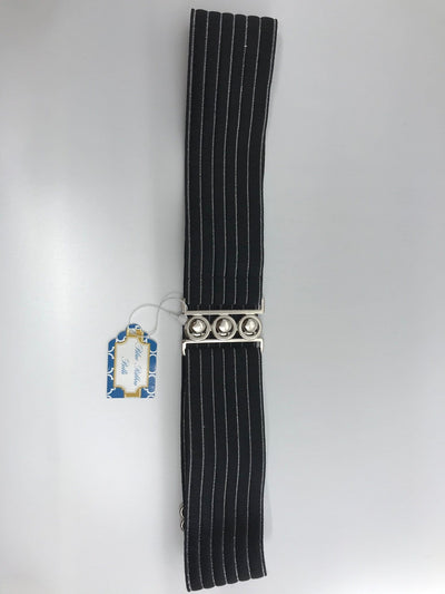 Blue Ribbon Belts Belt Black/Silver Stripe Blue Ribbon Belts - 2 Inch equestrian team apparel online tack store mobile tack store custom farm apparel custom show stable clothing equestrian lifestyle horse show clothing riding clothes horses equestrian tack store