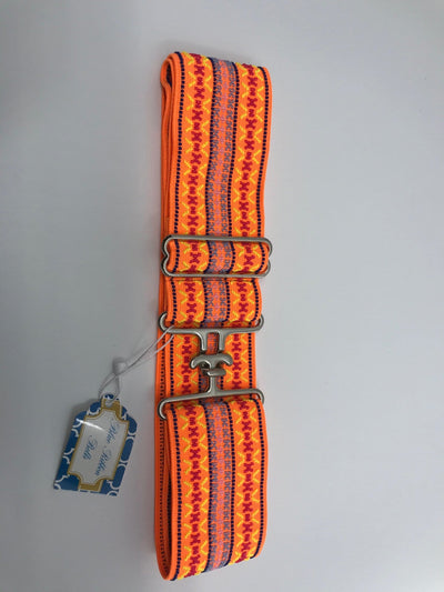 Blue Ribbon Belts Belt Bright Orange Pattern Blue Ribbon Belts - 2 Inch equestrian team apparel online tack store mobile tack store custom farm apparel custom show stable clothing equestrian lifestyle horse show clothing riding clothes horses equestrian tack store