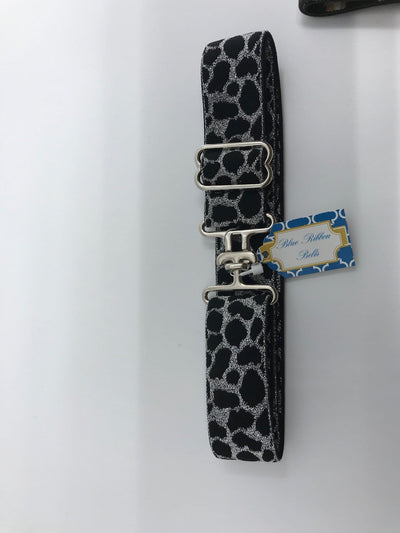 "Blue Ribbon Belts Belt Black/Silver Leopard Blue Ribbon Belts 1.5"" equestrian team apparel online tack store mobile tack store custom farm apparel custom show stable clothing equestrian lifestyle horse show clothing riding clothes horses equestrian tack store"