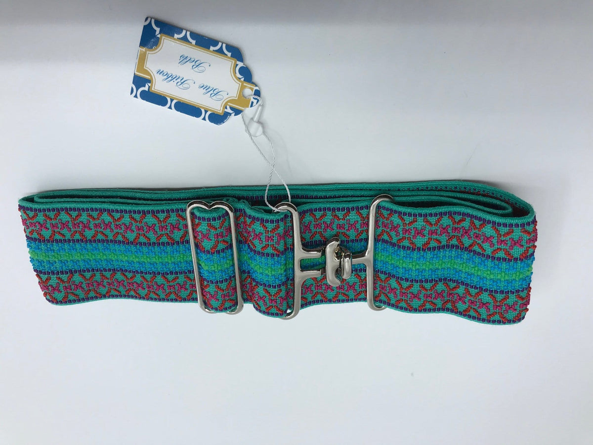 Blue Ribbon Belts Belt Teal/Pink/Blue Pattern Blue Ribbon Belts - 2 Inch equestrian team apparel online tack store mobile tack store custom farm apparel custom show stable clothing equestrian lifestyle horse show clothing riding clothes horses equestrian tack store