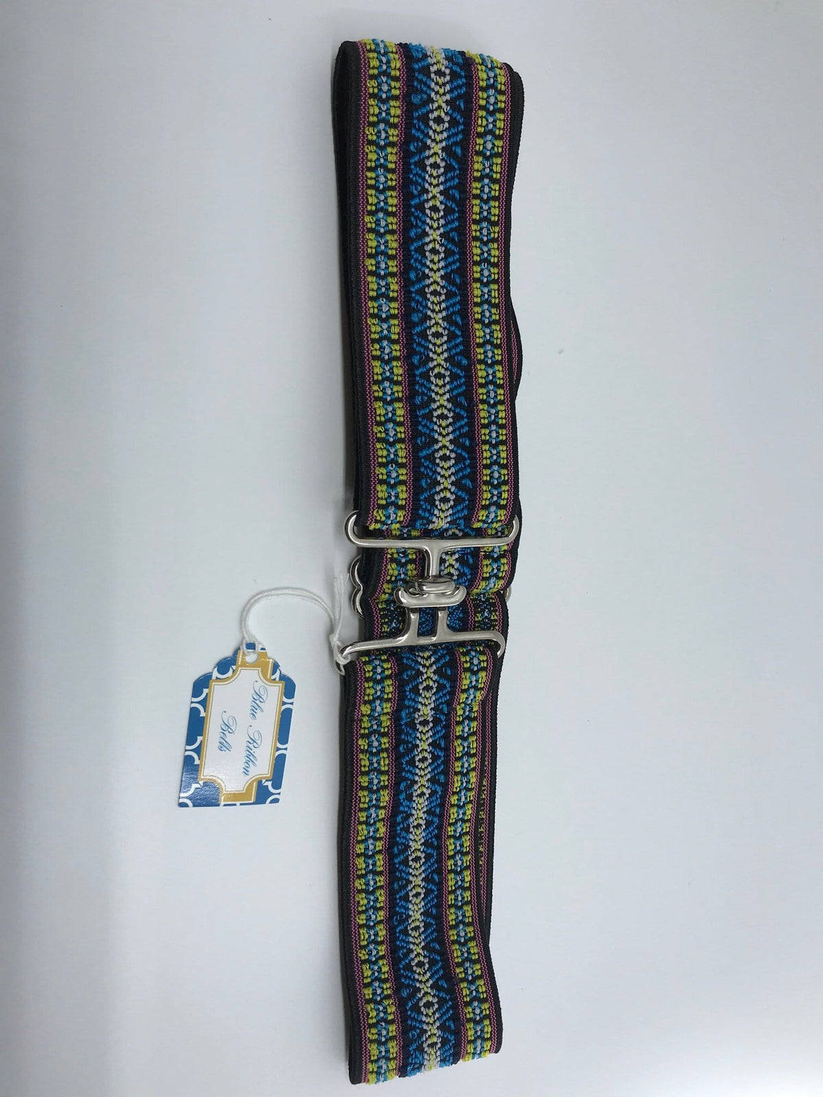 Blue Ribbon Belts Belt Blue/Pink Yellow Blue Ribbon Belts - 2 Inch equestrian team apparel online tack store mobile tack store custom farm apparel custom show stable clothing equestrian lifestyle horse show clothing riding clothes horses equestrian tack store