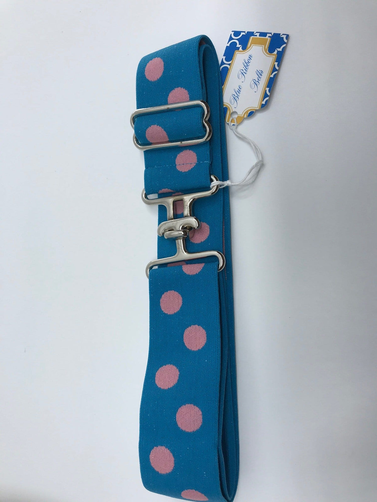 "Blue Ribbon Belts Belt Blue/ Pink Dot Blue Ribbon Belts 1.5"" equestrian team apparel online tack store mobile tack store custom farm apparel custom show stable clothing equestrian lifestyle horse show clothing riding clothes horses equestrian tack store"
