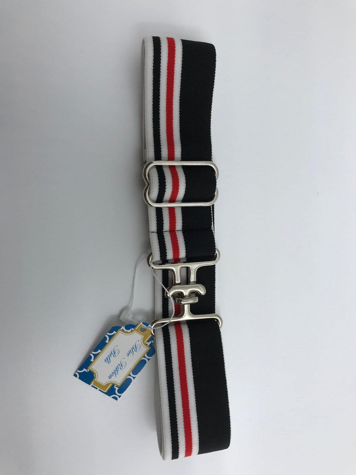 "Blue Ribbon Belts Belt Black/Red Stripe Blue Ribbon Belts 1.5"" equestrian team apparel online tack store mobile tack store custom farm apparel custom show stable clothing equestrian lifestyle horse show clothing riding clothes horses equestrian tack store"