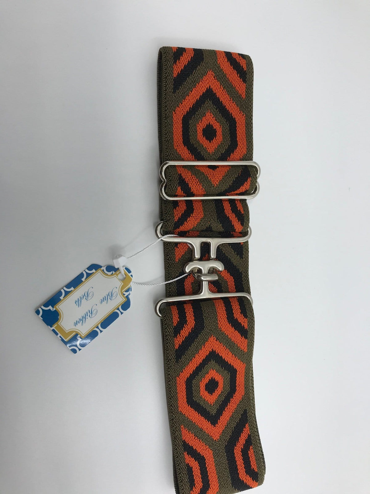Blue Ribbon Belts Belt Orange/Black/Green Diamond Blue Ribbon Belts - 2 Inch equestrian team apparel online tack store mobile tack store custom farm apparel custom show stable clothing equestrian lifestyle horse show clothing riding clothes horses equestrian tack store