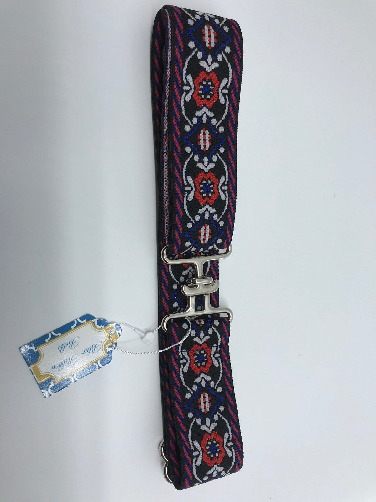 "Blue Ribbon Belts Belt Black Royal Blue Ribbon Belts 1.5"" equestrian team apparel online tack store mobile tack store custom farm apparel custom show stable clothing equestrian lifestyle horse show clothing riding clothes horses equestrian tack store"