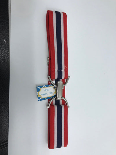 "Blue Ribbon Belts Belt Red White & Blue Stripe Blue Ribbon Belts 1.5"" equestrian team apparel online tack store mobile tack store custom farm apparel custom show stable clothing equestrian lifestyle horse show clothing riding clothes horses equestrian tack store"
