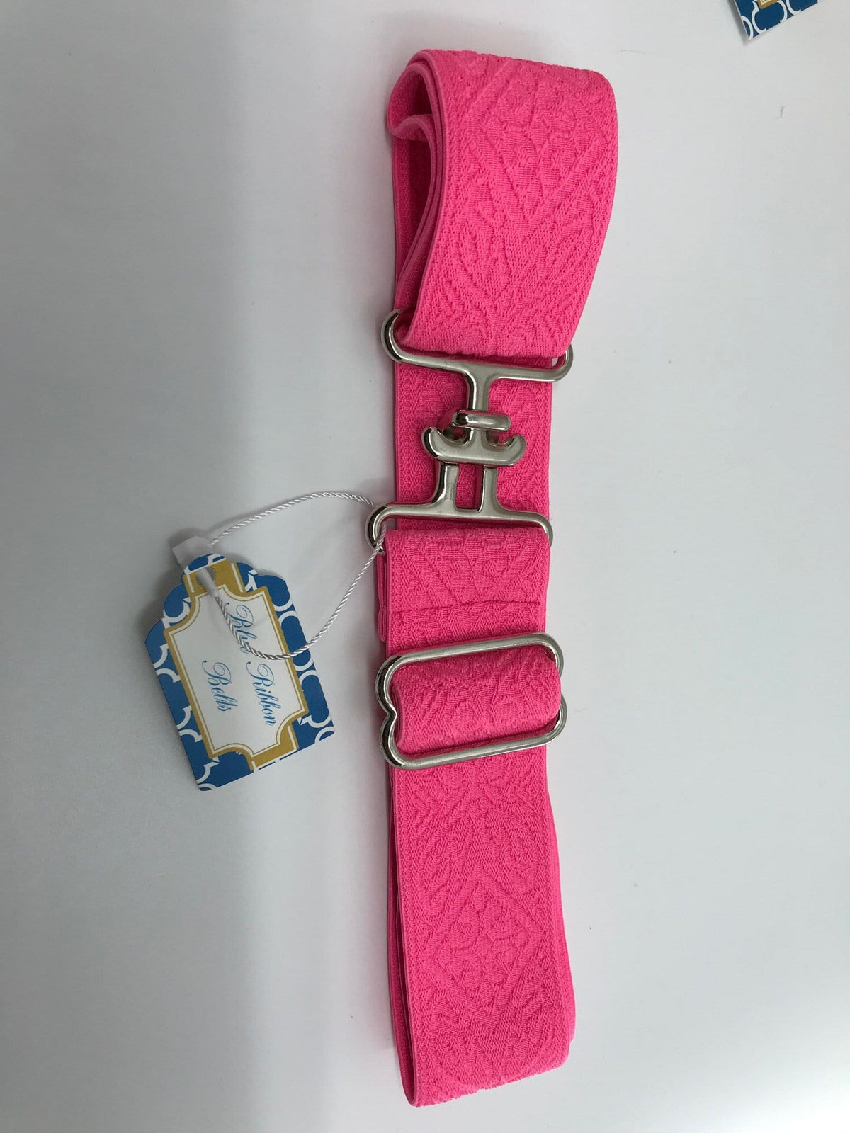 "Blue Ribbon Belts Belt Bright Pink Pattern Blue Ribbon Belts 1.5"" equestrian team apparel online tack store mobile tack store custom farm apparel custom show stable clothing equestrian lifestyle horse show clothing riding clothes horses equestrian tack store"