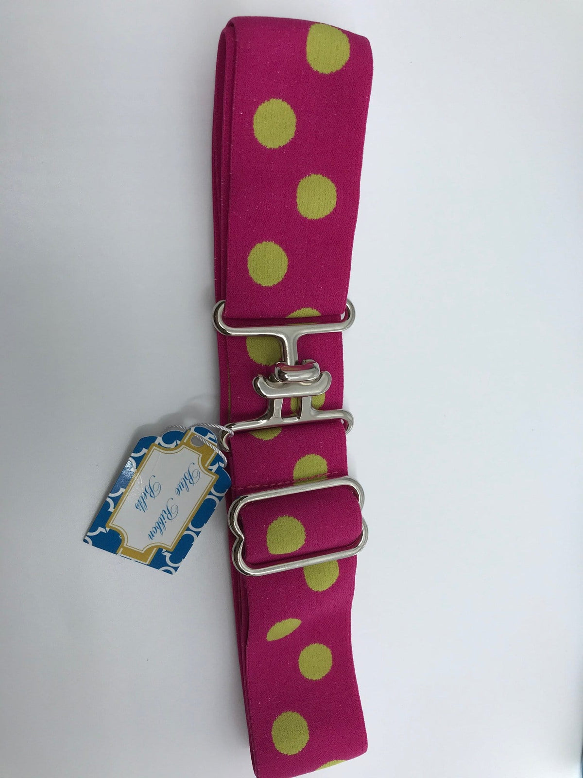 "Blue Ribbon Belts Belt Pink/Lime Dot Blue Ribbon Belts 1.5"" equestrian team apparel online tack store mobile tack store custom farm apparel custom show stable clothing equestrian lifestyle horse show clothing riding clothes horses equestrian tack store"