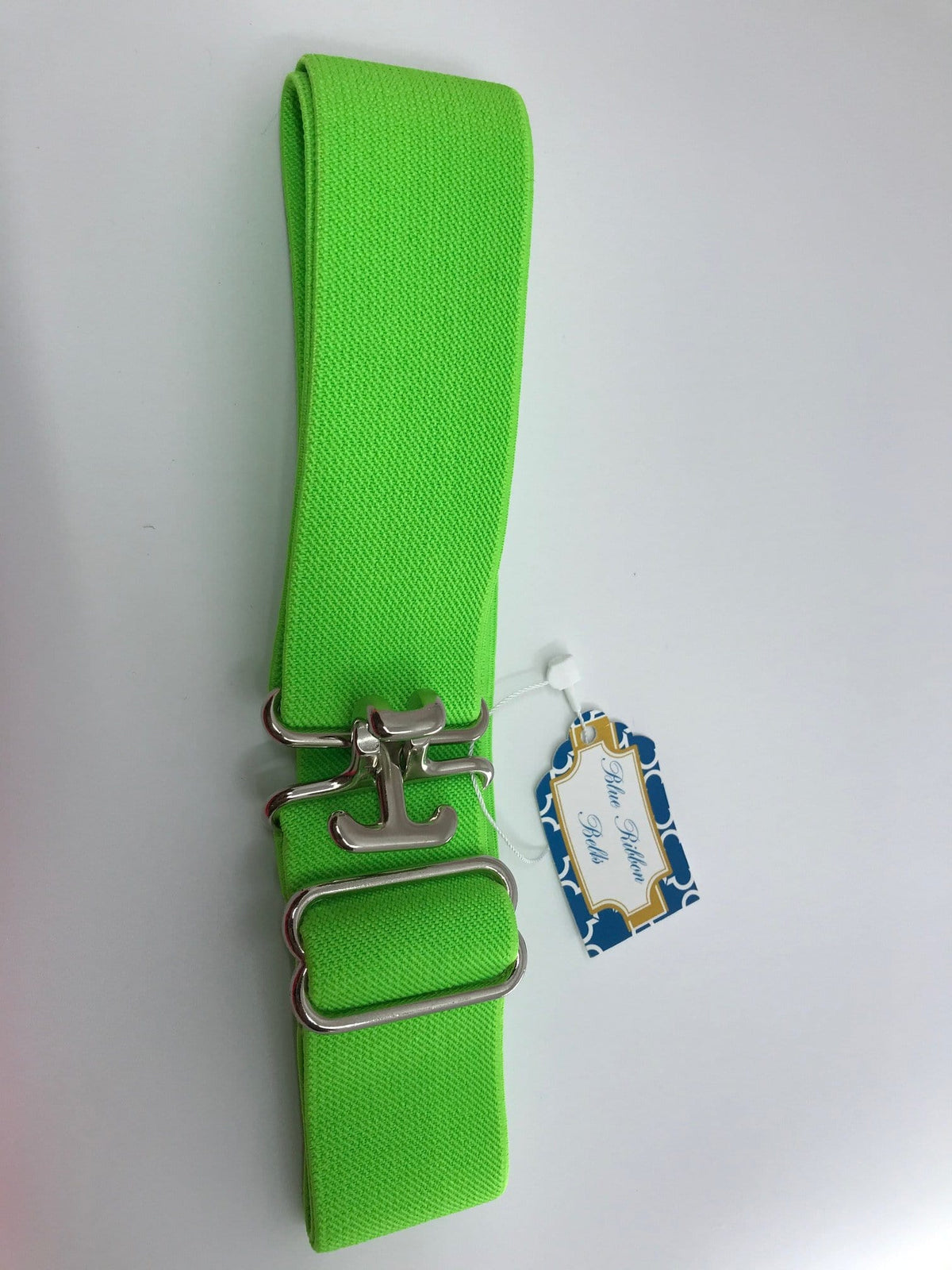 "Blue Ribbon Belts Belt Bright Green Blue Ribbon Belts 1.5"" equestrian team apparel online tack store mobile tack store custom farm apparel custom show stable clothing equestrian lifestyle horse show clothing riding clothes horses equestrian tack store"