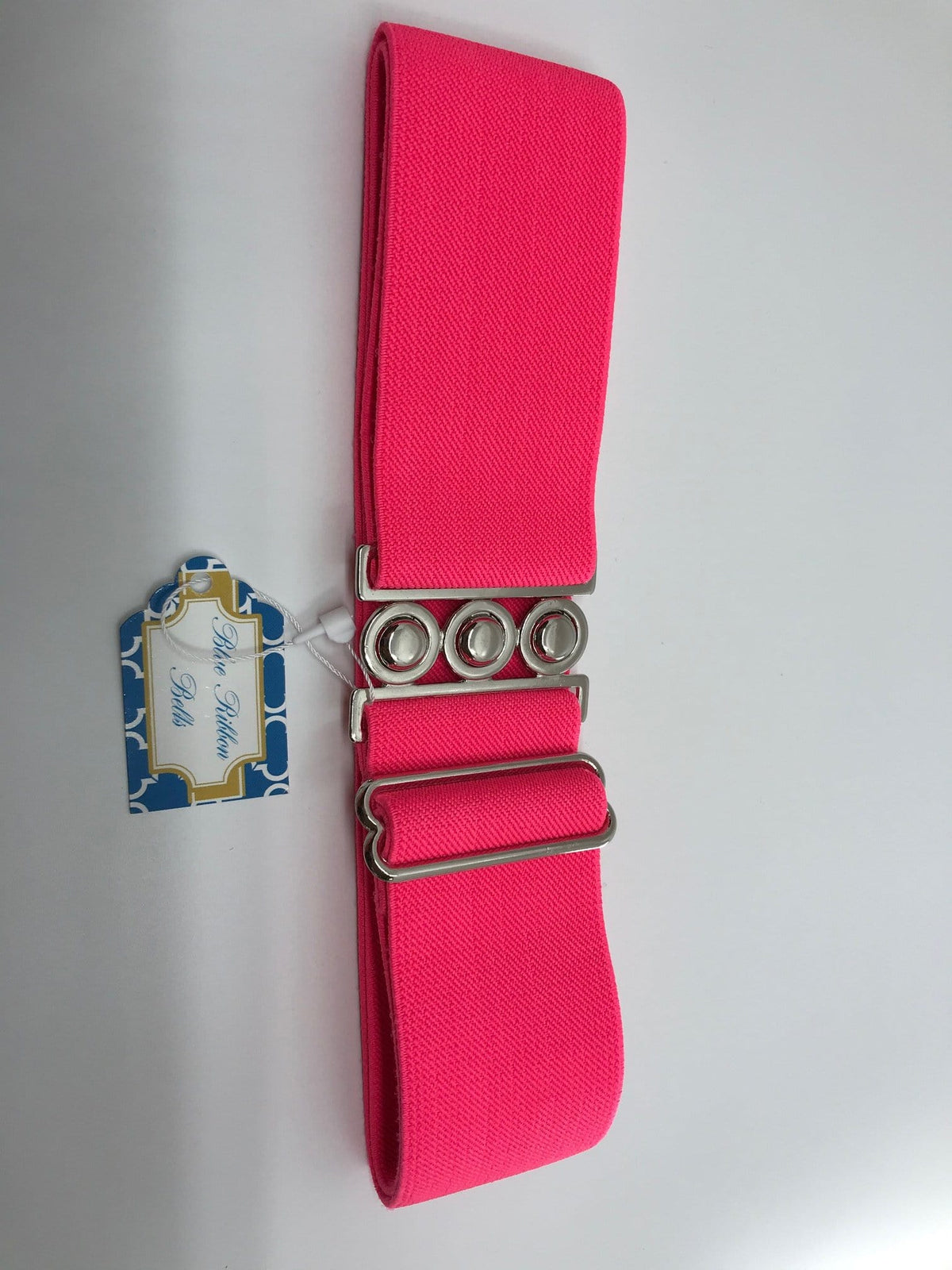 Blue Ribbon Belts Belt Bright Pink Blue Ribbon Belts - 2 Inch equestrian team apparel online tack store mobile tack store custom farm apparel custom show stable clothing equestrian lifestyle horse show clothing riding clothes horses equestrian tack store