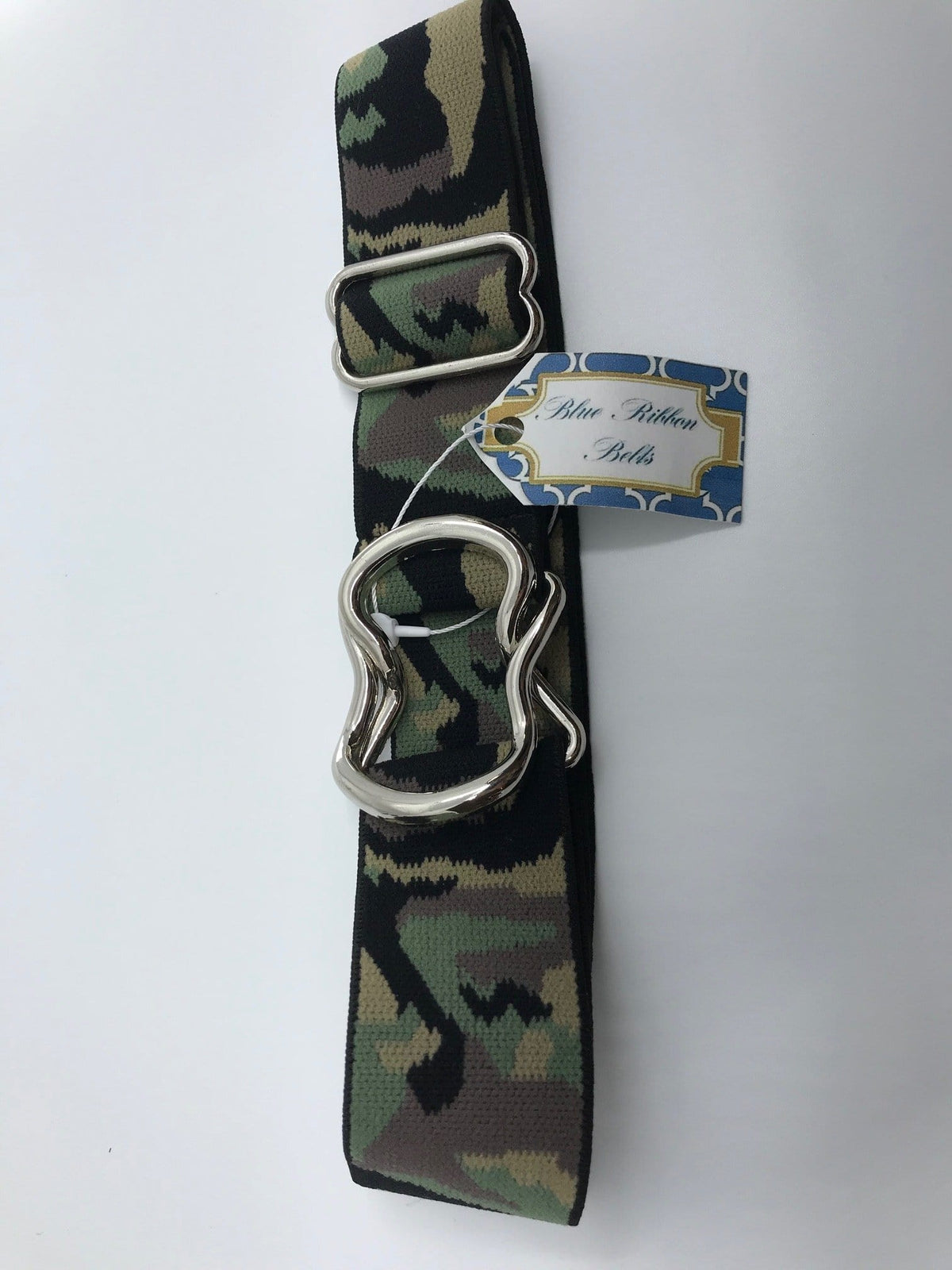 "Blue Ribbon Belts Belt Green Camo Blue Ribbon Belts 1.5"" equestrian team apparel online tack store mobile tack store custom farm apparel custom show stable clothing equestrian lifestyle horse show clothing riding clothes horses equestrian tack store"
