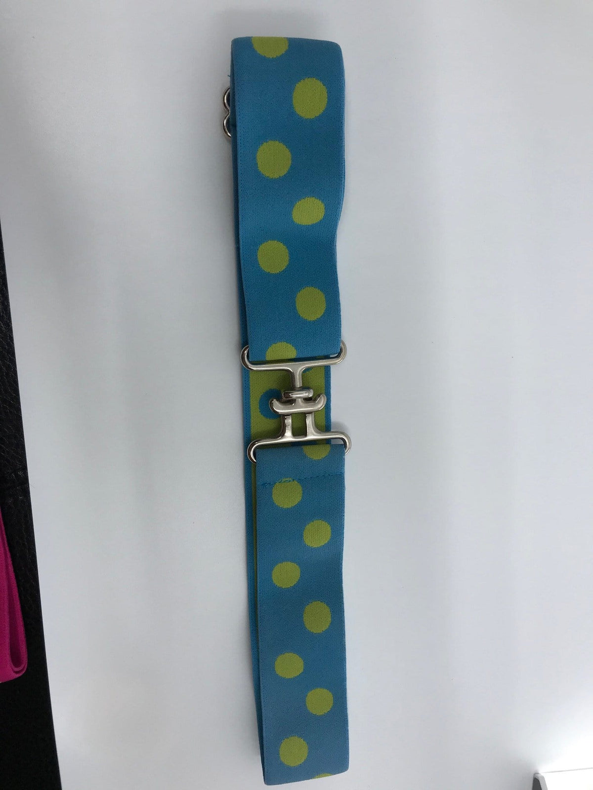 "Blue Ribbon Belts Belt Blue/ Lime Dots Blue Ribbon Belts 1.5"" equestrian team apparel online tack store mobile tack store custom farm apparel custom show stable clothing equestrian lifestyle horse show clothing riding clothes horses equestrian tack store"