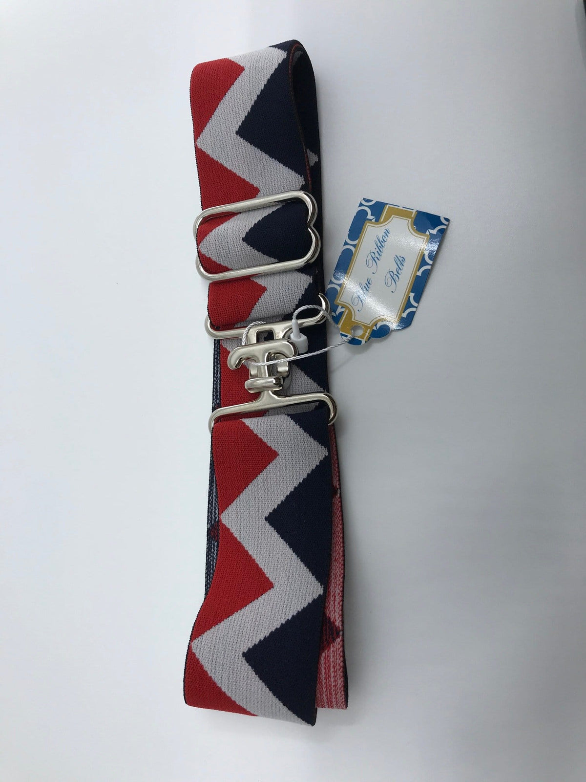 "Blue Ribbon Belts Belt Red/White/Navy ZigZag Blue Ribbon Belts 1.5"" equestrian team apparel online tack store mobile tack store custom farm apparel custom show stable clothing equestrian lifestyle horse show clothing riding clothes horses equestrian tack store"