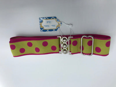 "Blue Ribbon Belts Belt Lime/Pink Dots/Pink Stripes Blue Ribbon Belts 1.5"" equestrian team apparel online tack store mobile tack store custom farm apparel custom show stable clothing equestrian lifestyle horse show clothing riding clothes horses equestrian tack store"