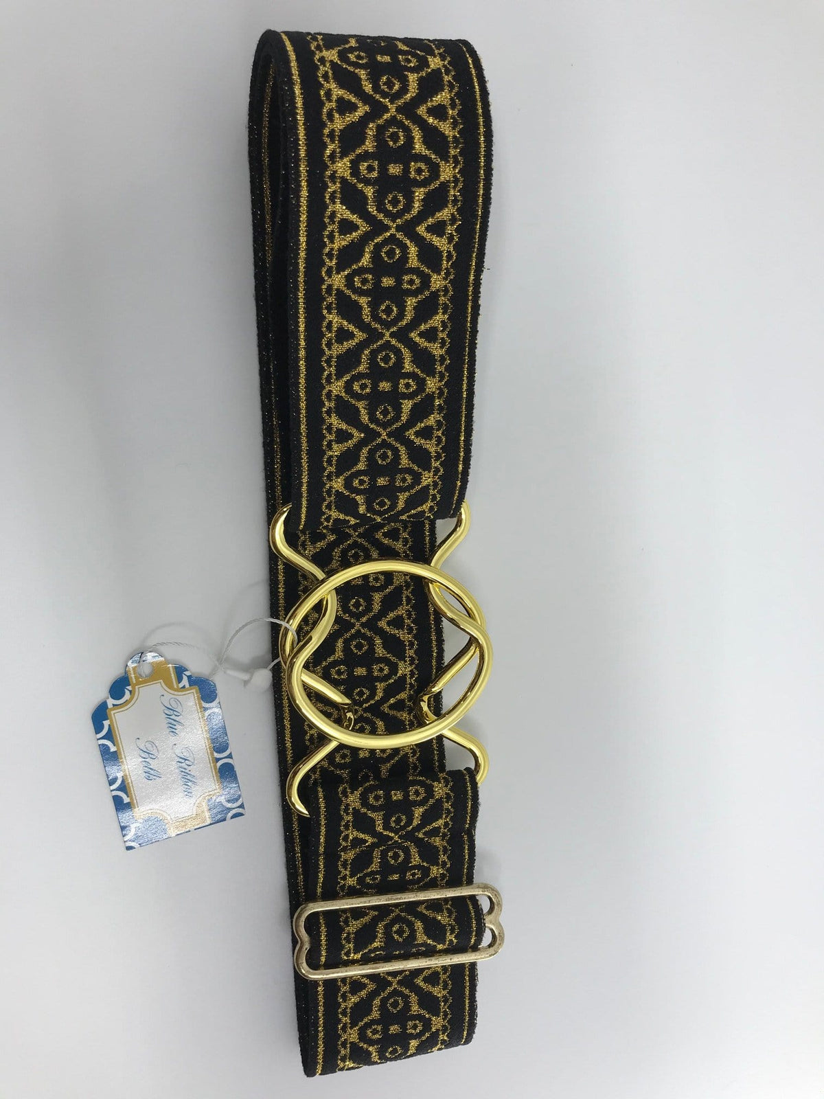 Blue Ribbon Belts Belt Black/Gold Gaelic Blue Ribbon Belts - 2 Inch equestrian team apparel online tack store mobile tack store custom farm apparel custom show stable clothing equestrian lifestyle horse show clothing riding clothes horses equestrian tack store