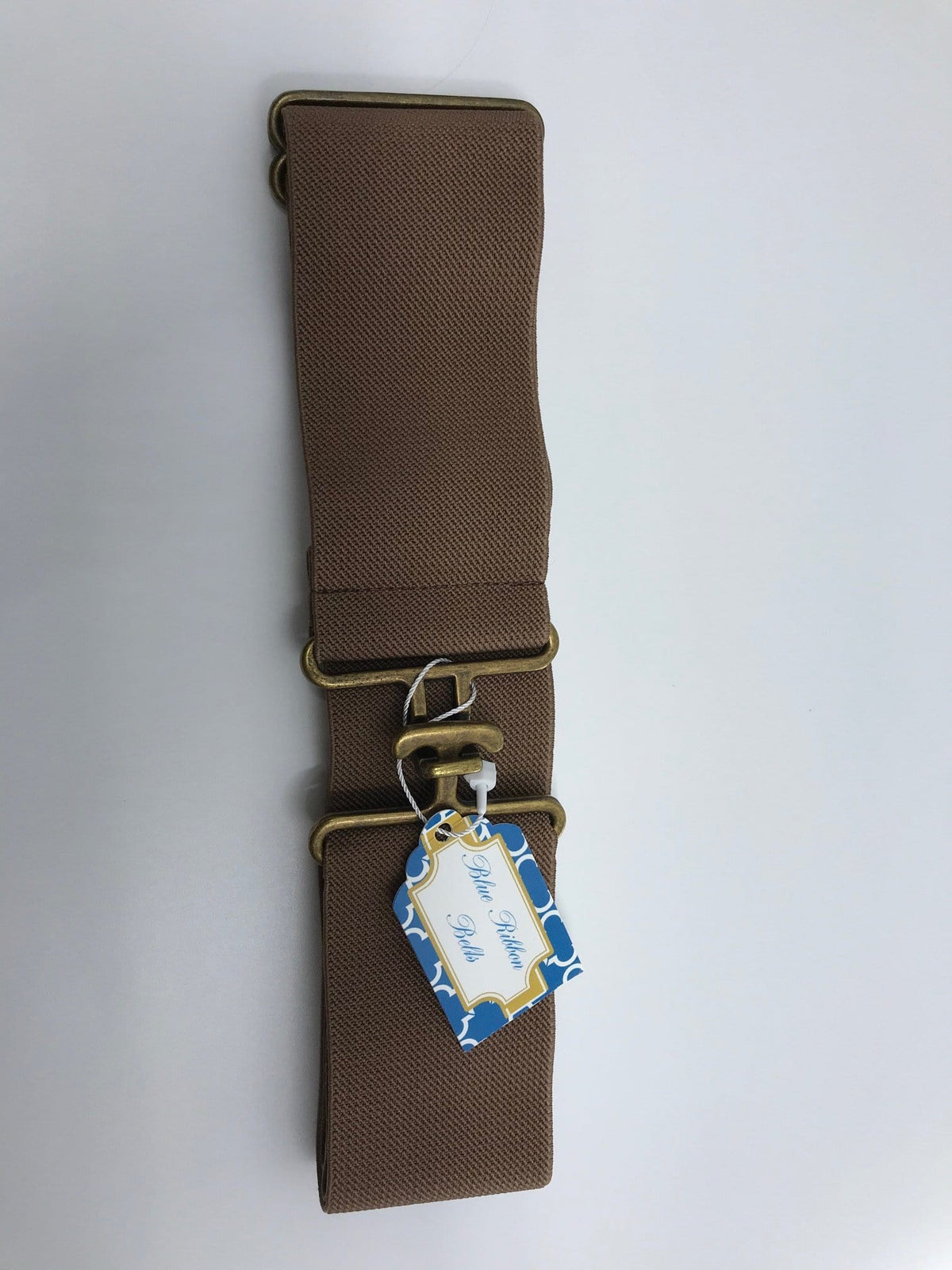 Blue Ribbon Belts Belt Chocolate Brown w Brass Blue Ribbon Belts - 2 Inch equestrian team apparel online tack store mobile tack store custom farm apparel custom show stable clothing equestrian lifestyle horse show clothing riding clothes horses equestrian tack store