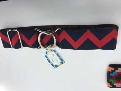 "Blue Ribbon Belts Belt Navy/Red ZigZag Blue Ribbon Belts 1.5"" equestrian team apparel online tack store mobile tack store custom farm apparel custom show stable clothing equestrian lifestyle horse show clothing riding clothes horses equestrian tack store"