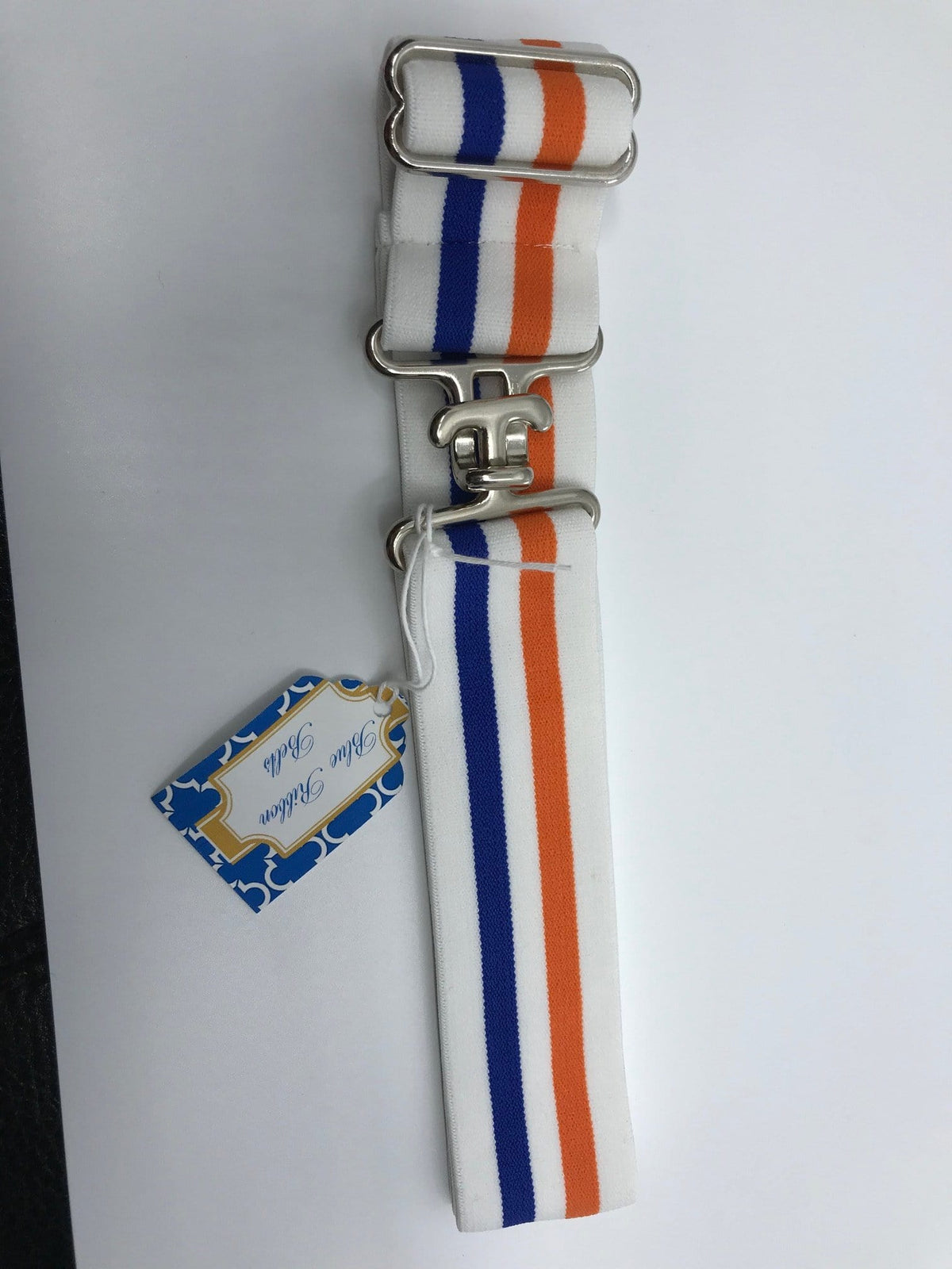 "Blue Ribbon Belts Belt Orange/Blue Stripe Blue Ribbon Belts 1.5"" equestrian team apparel online tack store mobile tack store custom farm apparel custom show stable clothing equestrian lifestyle horse show clothing riding clothes horses equestrian tack store"
